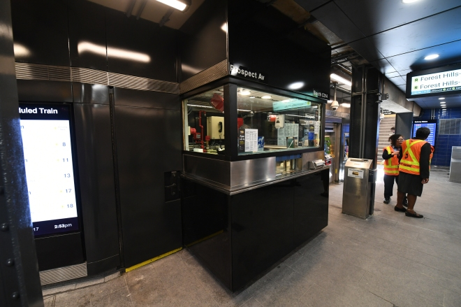 Prospect Av Station Reopens
